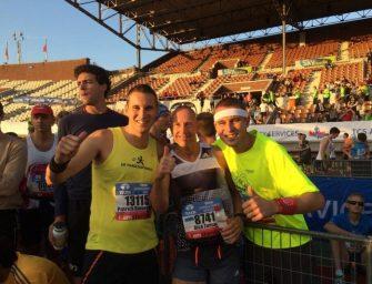 Patrick en Danny Binnendijk lopen Amsterdam Marathon