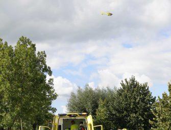 Traumahelikopter en andere hulpdiensten op Zuidzijde voor ongeval wielrenner