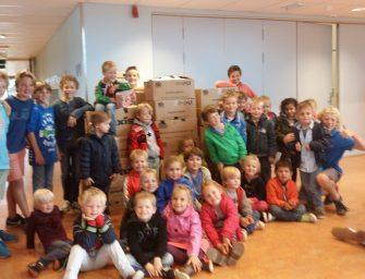 Basisschool De Venen uit Reeuwijk houdt inzamelingsactie voor AZC in Overberg