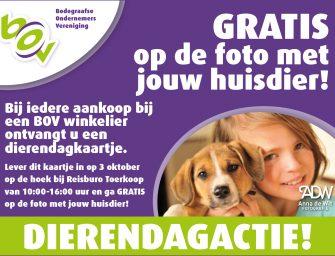 Ga zaterdag 3 oktober op de foto met jouw huisdier!