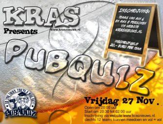 Inschrijving Kras Pubquiz 2015 geopend