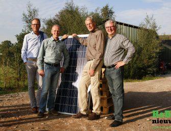 In gebruik name coöperatieve zonnepanelen in de Meije