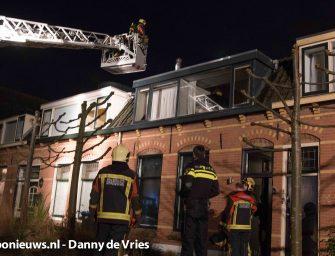 Schoorsteenbrand aan de Buitenkerk in Bodegraven