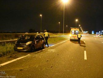 Auto flink beschadigd bij ongeval op de A12 bij Bodegraven