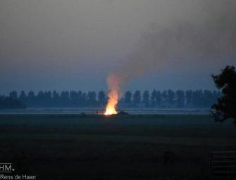 Buitenbrand aan de Noordzijde in Bodegraven