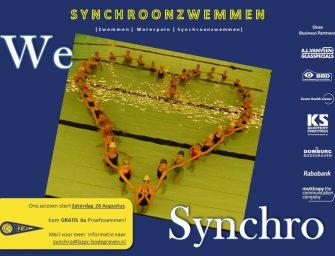 Synchroonzwemafdeling BZ&PC zoekt nieuwe leden