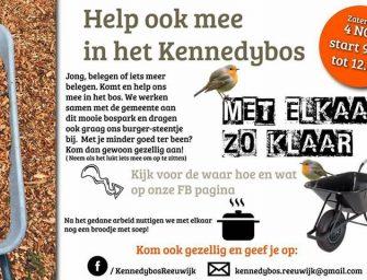 Vrijwilligersochtend in het Kennedybos in Reeuwijk