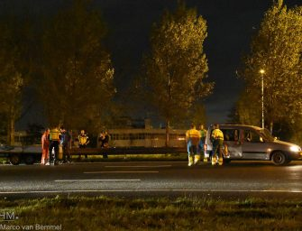 Ongeval met auto en aanhanger op de A12 bij Bodegraven