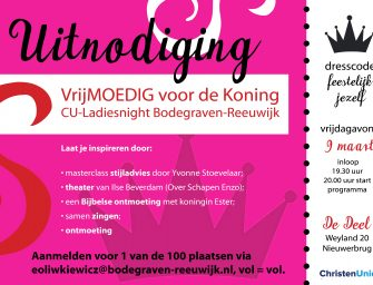 ChristenUnie houdt Ladiesnight