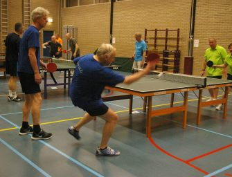 Tafeltennis bedrijven-dubbeltoernooi TTV Reeuwijk