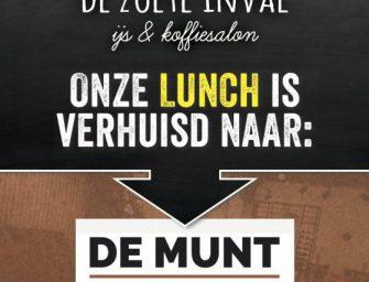 Lunchkaart De zoete inval gaat door naar De Munt eten • drinken