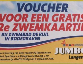 Spaar 2e zwembadkaartje gratis bij Jumbo Langerak