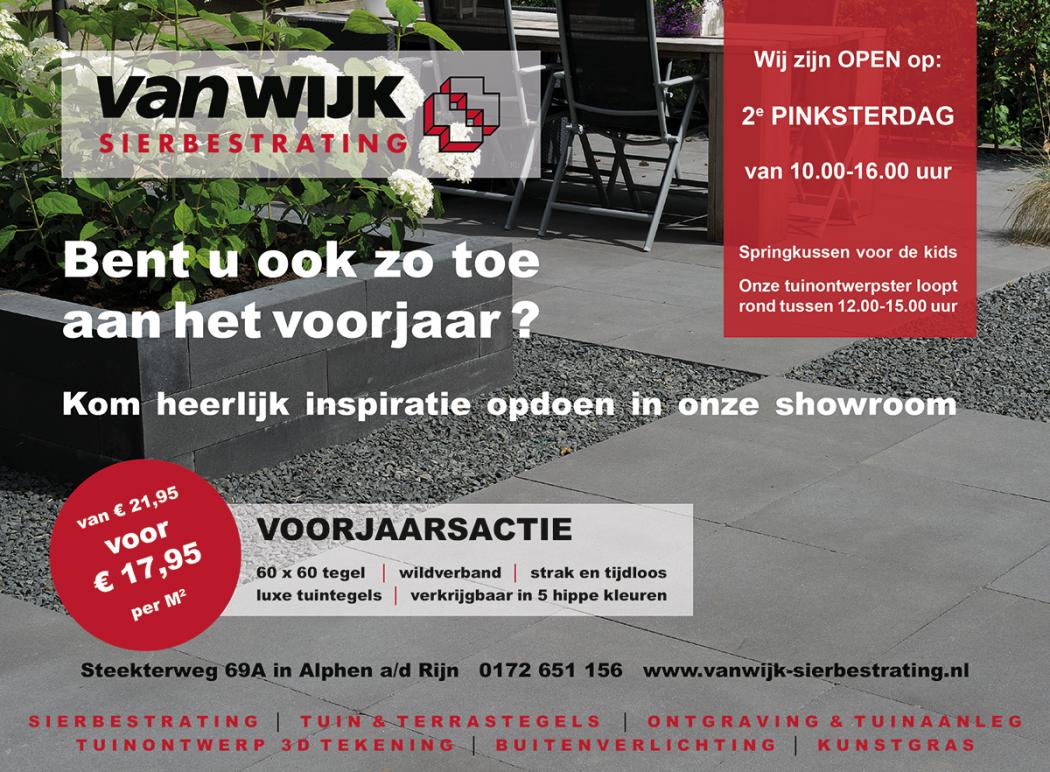 Voorjaarsactie bij Van Wijk Sierbestrating - Rebonieuws.nl