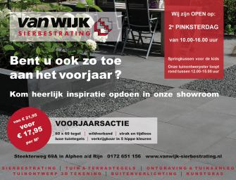 Voorjaarsactie bij Van Wijk Sierbestrating