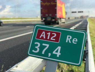 File door ongeluk op de A12