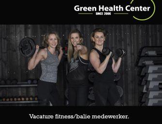 Green Health Center zoekt balie/fitness medewerker