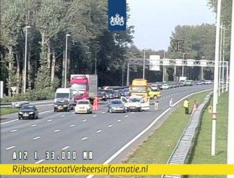 Drukte in Bodegraven door ongeval A12