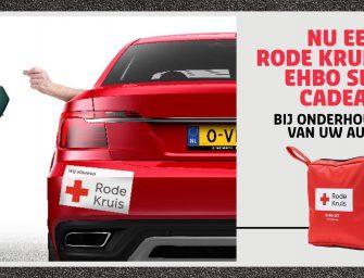 Vakgarage Bodegraven steunt Rode Kruis en u doet mee!
