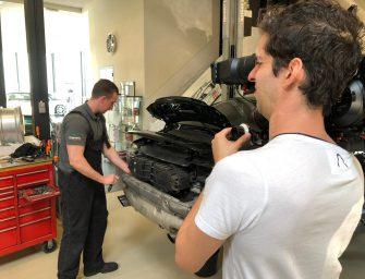Tv-opnames bij VD Gugten Porsche Service