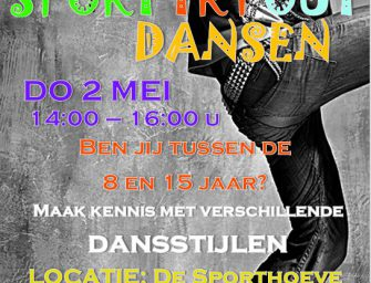 'Sport Try Out' dansen op 2 mei in de Sporthoeve