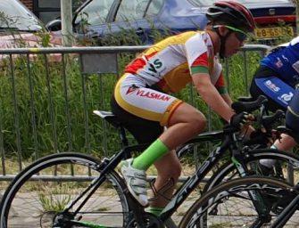 Olivier naar NK jeugd wielrennen in Ameide 15 juni