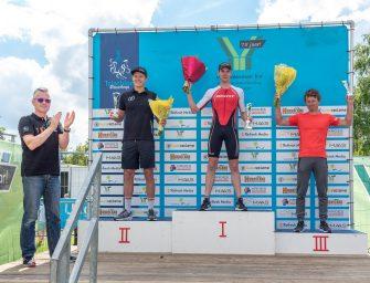 Sven Strijk wint halve triathlon Nieuwkoop