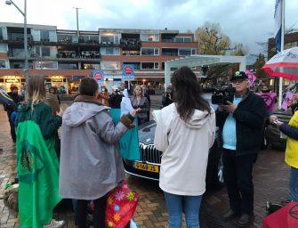 Demonstranten bij bezoek minister Cora van Nieuwenhuizen aan Bodegraven
