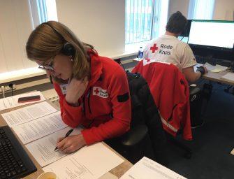 Vrijwilligers Rode Kruis Bodegraven helpen bij GGD op infectielijn
