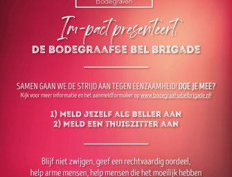 """Impact organiseert Bodegraafse Bel-Brigade: """"Samen gaan we de strijd aan tegen eenzaamheid!"""""""