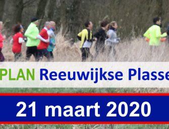 De Vosplan Reeuwijkse Plassenloop op 21 maart a.s. afgelast.