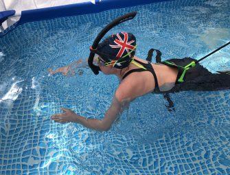 Geen zwembad: Trainen in een zwembad in de tuin