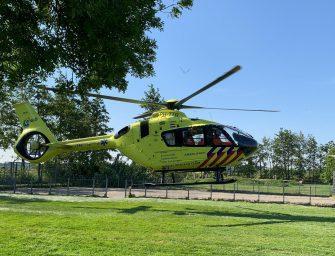 Traumahelikopter landt in Nieuwerbrug