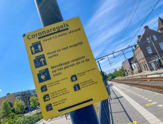 Coronamaatregelen bij station Bodegraven