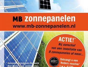 MB Zonnepanelen houdt speciale actie met restaurant Anders in Bodegraven
