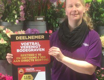 Ook bloemenwinkel Passiflora doet mee met actie VV Bodegraven