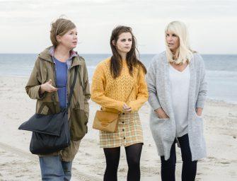 Linda de Mol, Elise Schaap en Tjitske Reidinga in het Evertshuis
