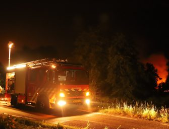 Grote brand in Reeuwijk vannacht