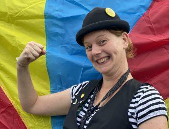 Een reizende Reeuwijkse clown in Nederland