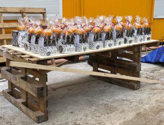 Molen biertjes voor bouwvakkers in Bodegraven